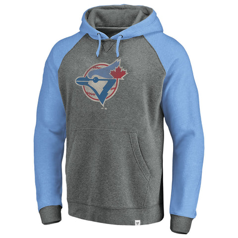 FANATICS MEN'S TORONTO BLUE JAYS COOPERSTOWN LARGE DISTRESSED LOGO TOP