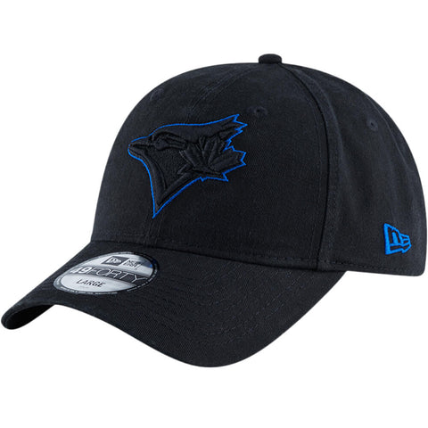 NEW ERA MEN'S TORONTO BLUE JAYS 4940 CORE FIT POP HAT BLACK/BLUE