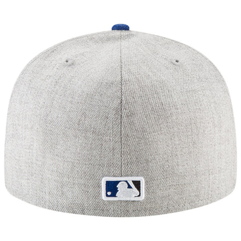 NEW ERA MEN'S TORONTO BLUE JAYS 5950 HEATHER HYPE FITTED HAT GREY/BLUE
