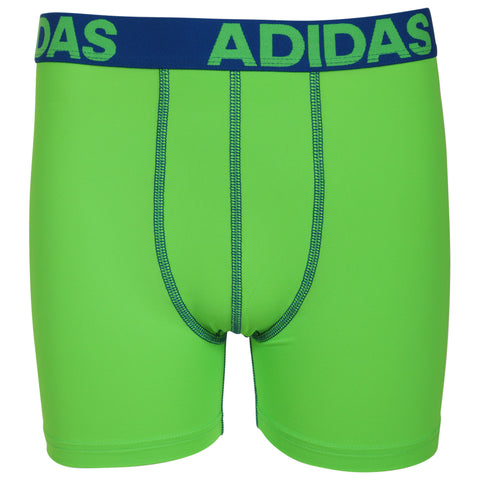 ADIDAS YOUTH CLIMALITE 2PACK BOXER BRIEF SOLAR GREEN/ONIX
