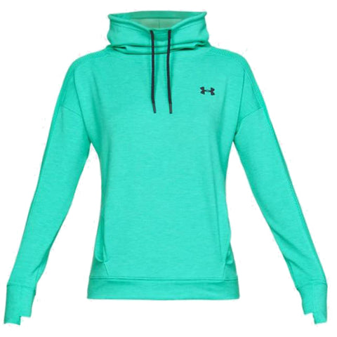 UNDER ARMOUR WOMEN'S FEATHERWEIGHT FLEECE FUNNEL NECK GREEN