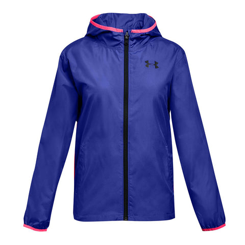 UNDER ARMOUR GIRLS' SACK PACK FULL ZIP JACKET PURPLE