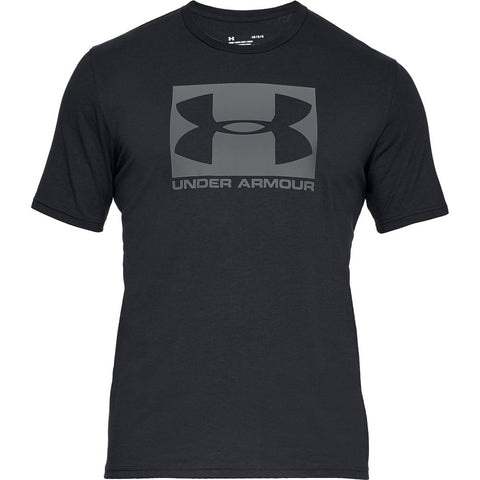 UNDER ARMOUR MEN'S UA BOXED SPORTSTYLE SHORT SLEEVE TOP BLACK