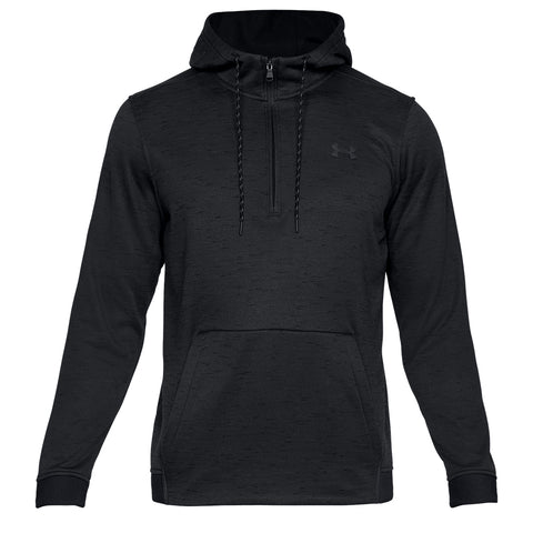 UNDER ARMOUR MEN'S ARMOUR FLEECE 1/2 ZIP HOODY BLACK