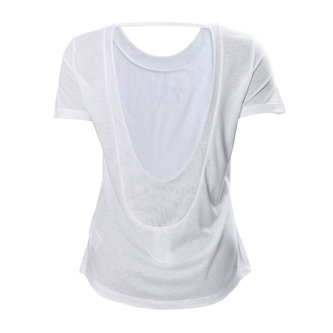 ADIDAS WOMEN'S LOW BACK TEE WHITE