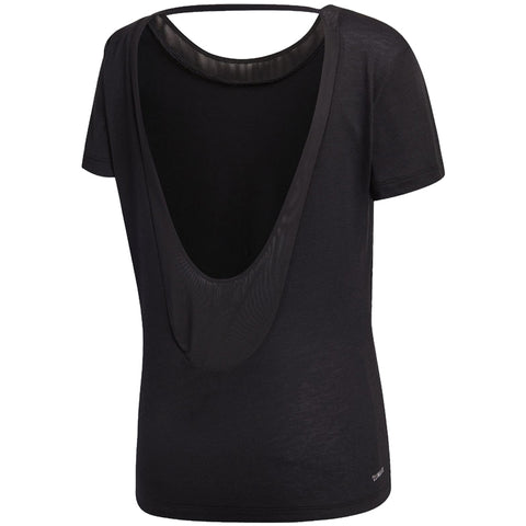ADIDAS WOMEN'S LOW BACK TEE BLACK