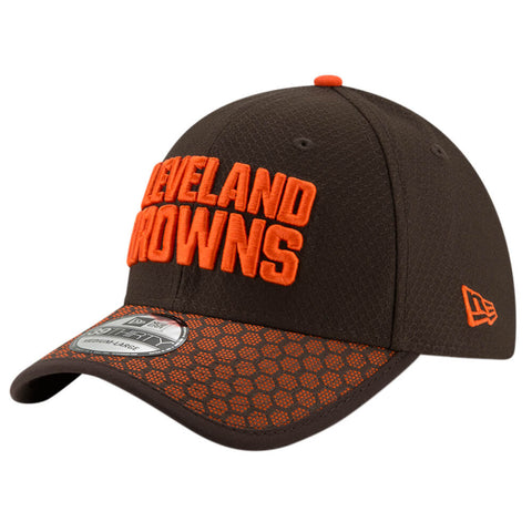 NEW ERA NFL17 CLEVELAND BROWNS 3930 OFFICIAL SIDELINE CAP OTC