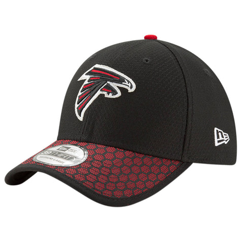 NEW ERA NFL17 ATLANTA FALCONS 3930 OFFICIAL SIDELINE CAP BLACK