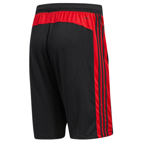 ADIDAS MEN'S D2M 3 STRIPE SHORT BLACK/SCARLET