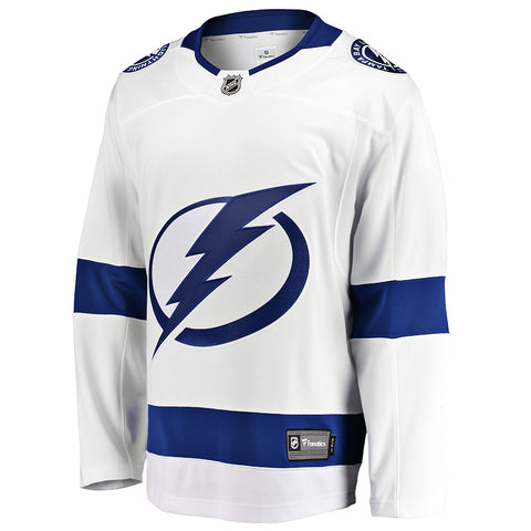 FANATICS MEN'S TAMPA BAY LIGHTNING ROAD JERSEY WHITE