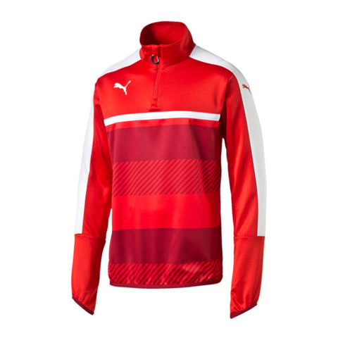 PUMA MEN'S VELOCE 1/4 ZIP TRAINING TOP RED