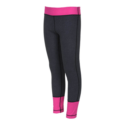 FIREFLY GIRLS' COLOR BLOCKED BASELAYER PANT CASTLEROCK/PINK