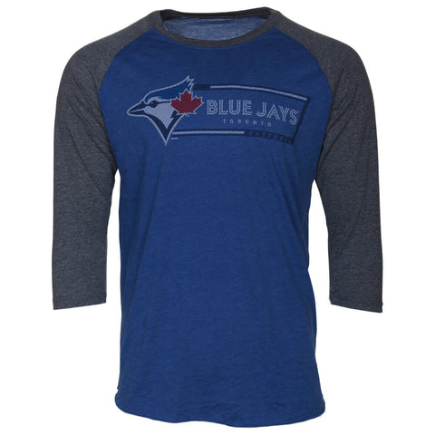 BULLETIN ATHLETIC MEN'S TORONTO BLUE  JAYS LONG SLEEVE MLB103 TOP ROYAL/GREY