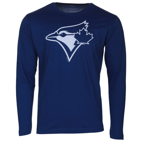 BULLETIN ATHLETIC MEN'S TORONTO BLUE  JAYS LONG SLEEVE ONE COLOR WHITE LOGO TOP ROYAL