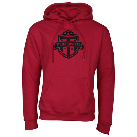 BULLETIN ATHLETIC MEN'S TFC PULLOVER ONE COLOUR BLACK LOGO HOODY RED