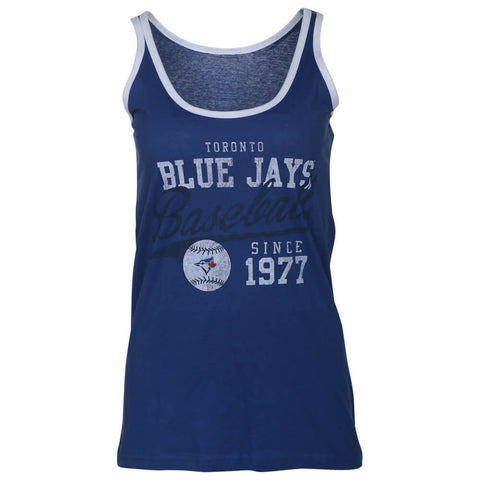 BULLETIN ATHLETIC WOMEN'S TORONTO BLUE JAYS RETRO BALL TANK ROYAL/WHITE