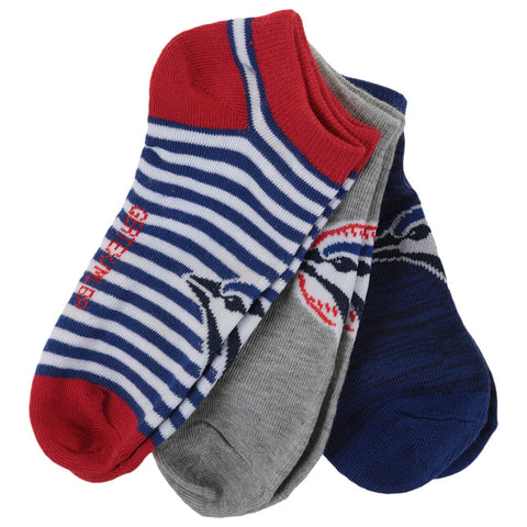GERTEX WOMEN'S TORONTO BLUE JAYS 3 PACK NO SHOW SOCKS