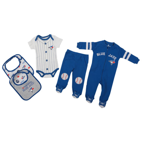 GERTEX BOYS TORONTO BLUE JAYS 5 PIECE LAYETTE SET