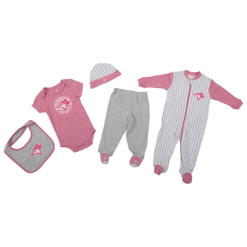 GERTEX GIRLS TORONTO BLUE JAYS 5 PIECE LAYETTE SET