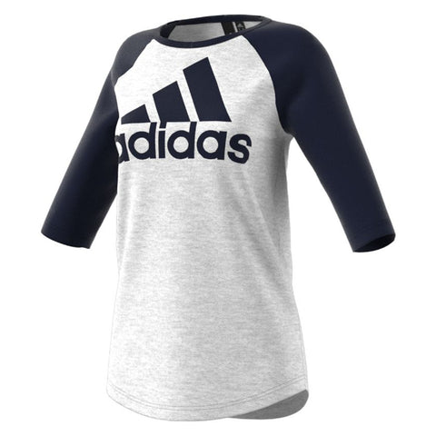 ADIDAS WOMEN'S SPORT ID T-SHIRT LIGHT GREY/LEGEND INK
