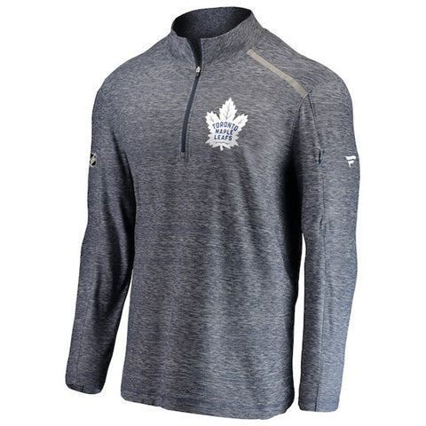 FANATICS MEN'S TORONTO MAPLE LEAFS AUTHENTIC CLUTCH 1/4 ZIP PERFORMANCE TOP