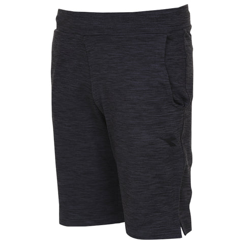 DIADORA BOY'S LOUNGE SHORT BLACK/IRON SPACEDYE