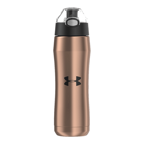 UNDER ARMOUR BEYOND 18OZ VACUUM INSULATED BOTTLE ROSE GOLD