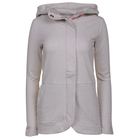 RIPZONE WOMEN'S LAURA HOODY EXTENDED SIZING SILVER CLOUD