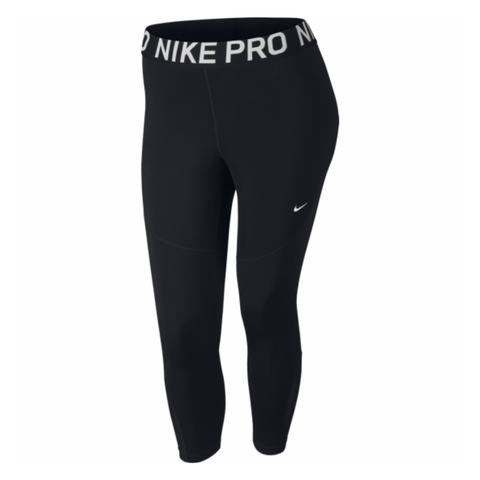 NIKE WOMEN'S CROP BLACK PLUS SIZES 1X-2X