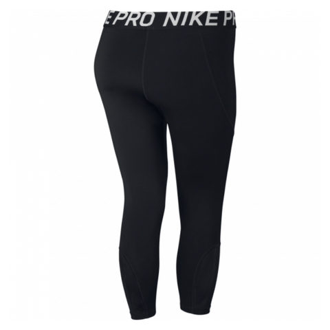 NIKE WOMEN'S CROP LEGGING BLACK PLUS SIZES 1X-2X