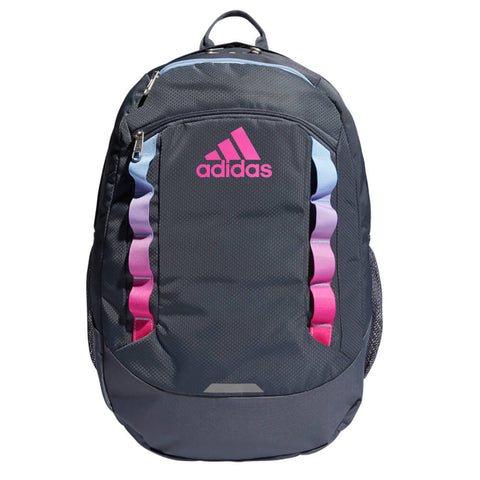 ADIDAS EXCEL LV BACKPACK ONIX/GLOW BLUE/SHOCK PINK