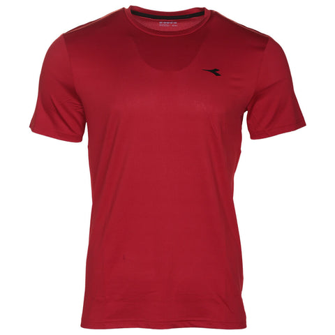 DIADORA MEN'S BASIC TECH SHORT SLEEVE TOP SALSA
