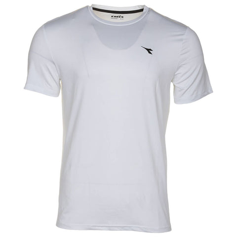 DIADORA MEN'S BASIC TECH SHORT SLEEVE TOP BLANC DE BLANC