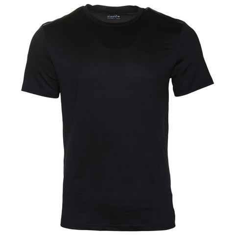 DIADORA MEN'S BASIC TECH SHORT SLEEVE TOP BLACK