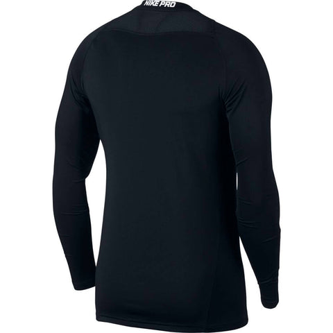 NIKE M NK PRO FITTED LONG SLEEVE TOP BLACK BACK