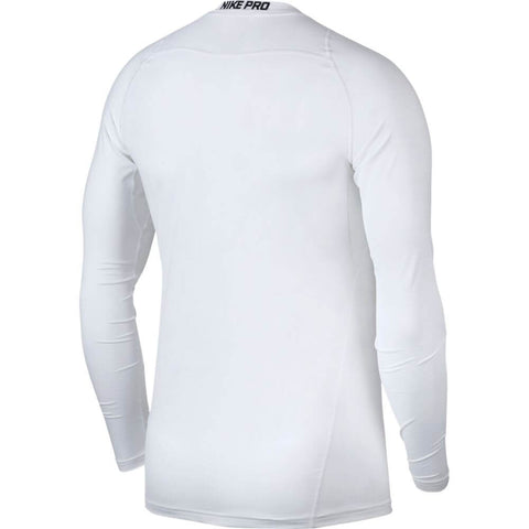 NIKE M NK PRO FITTED LONG SLEEVE TOP WHITE BACK