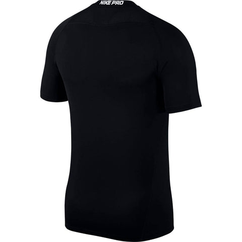 NIKE M NK PRO FITTED SHORT SLEEVE TOP BLACK BACK
