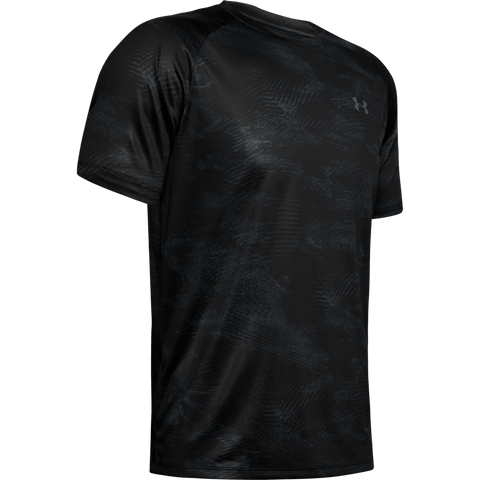 UNDER ARMOUR MEN'S TECH 2.0 PRINTED SHORT SLEEVE TOP BLACK/PITCH GREY