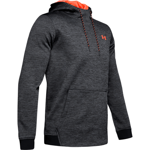 UNDER ARMOUR MEN'S ARMOUR FLEECE TWIST HOODY BLACK/RED