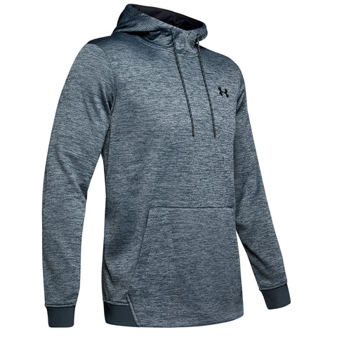UNDER ARMOUR MEN'S ARMOUR FLEECE TWIST HOODY WIRE/BLACK