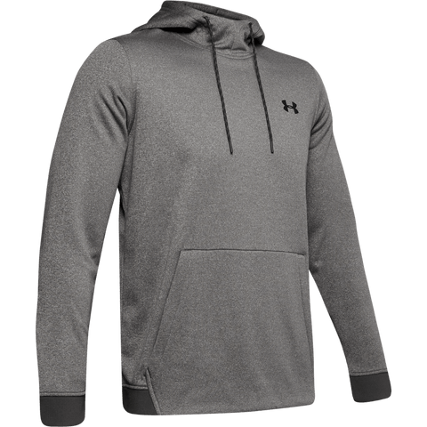 UNDER ARMOUR MEN'S ARMOUR FLEECE PO HOODY JET GREY LIGHT HEATHER/BLACK