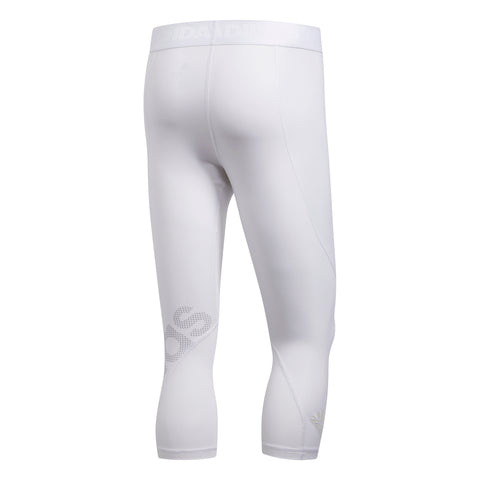 ADIDAS M ALPHASKIN SPORT 3/4 TIGHT WHITE BACK