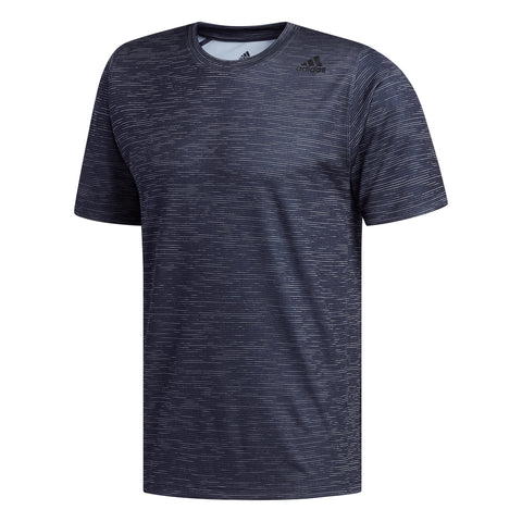 ADIDAS M FREELIFT TECH FITTED STRIPED HEATHER TEE BLK/WHT