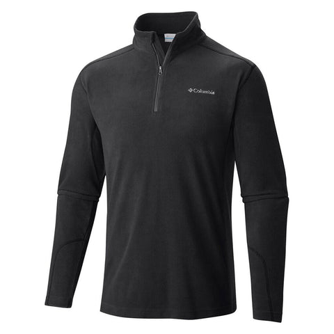COLUMBIA MEN'S KLAMATH RANGE II HALF ZIP TOP BLACK