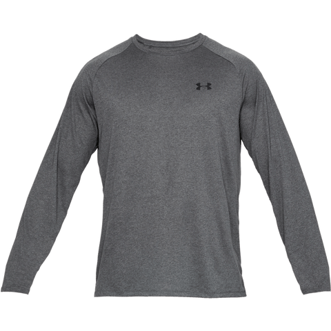 UNDER ARMOUR MEN'S TECH 2.0 LONG SLEEVE TOP CHARCOAL HEATHER