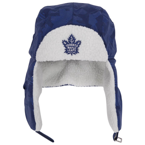 FANATICS MEN'S TORONTO MAPLE LEAFS ICONIC TRAPPER HAT BLUE/STORM GREY