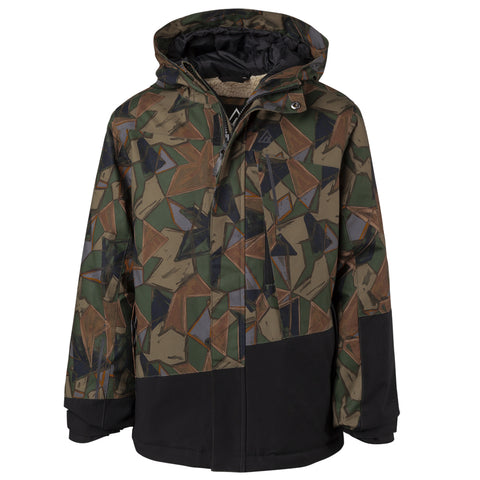 RIPZONE BOYS NACHO INSULATED JACKET CAMO PRINT/BLACK