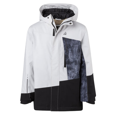 RIPZONE BOYS NACHO INSULATED JACKET QUIET GREY/BLACK/TEXTURE