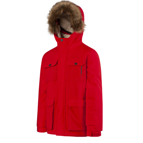 RIPZONE BOYS CHURRO INSULATED JACKET BARBADOS CHERRY