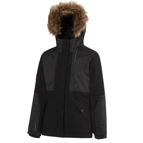 RIPZONE GIRLS PUFF PARKA BLACK